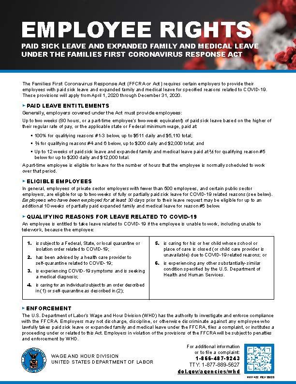 Employee Rights Coronavirus Response Act